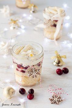 Holiday eggnog & cranberry trifle