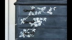 The IOD Sisters transform this sweet old dresser into a unique Vintage Chalkboardesqe stunner! They used the Birds Blossoms and Branches Decor Stamp™ from th. Elegant Home Decor, Elegant Homes, Vintage Signs, Unique Vintage, Chalkboard Dresser, Painted Furniture, Diy Furniture, Iron Orchid Designs, Branch Decor