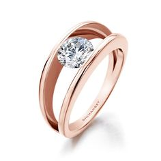 """Discover the romantic allure of rose gold – the """"metal of the moment"""" in the first Shimansky Rose Gold Millennium Diamond Ring. #Shimansky #RoseGold"""