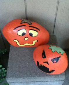Pumpkin Painted River Rocks