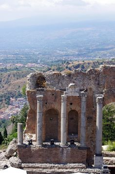 Ruins of the Greek theater, Taormina, Sicily, Italy