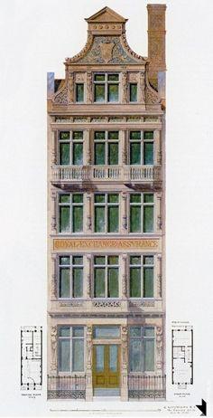 1 Baroque Architecture, Art Nouveau Architecture, Architecture Drawings, Historical Architecture, Architecture Plan, Amazing Architecture, Architecture Details, Cool Mansions, Elementary Art Rooms