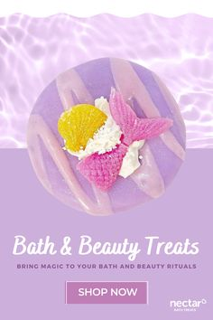 Bath & Beauty Treats w/o Sulfates or Parabens. Plant-Based, Cruelty-Free Beauty Confections with Simple & Clean Ingredients, Handmade with Love in the USA. Nectar Bath Treats bring magic to your bath and beauty rituals. Donut, cupcake and waffle soaps, confections bath bombs, milkshake bath soaks, sugar & sea salt scrubs, candles - our bath and beauty confections are Loveable, Covetable, Giftable, Shareable! bath soap, bath bombs, soaps, beauty, milk soap.