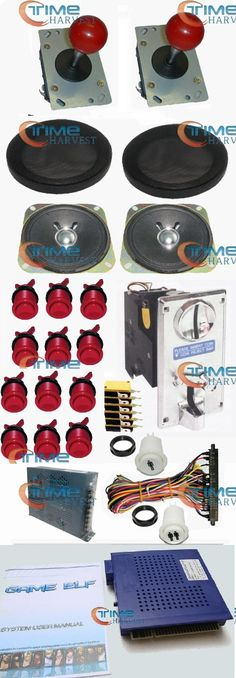 (105.00$)  Buy here - http://aiiu8.worlditems.win/all/product.php?id=892254230 - 1set Arcade parts Bundles kit With 621 in 1 PCB 16A Power Supply long shaft Joystick buttons Harness Speaker for Arcade Machine