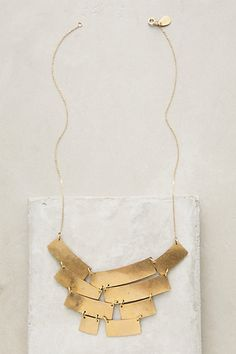 Turris Bib Necklace #anthropologie $88 Turris Bib Necklace by Nashelle # imported 38782173 $88.00