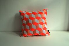 LIMITED EDITION: woven 3D cube pattern cushion cover by sisauvage