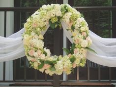 The Flower Cupboard - Virginia Florists - Floral wreath wedding decor