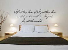 If i lay here snow patrol lyrics v2 quote bedroom wall art sticker decal mural interior design home. £15.99, via Etsy.