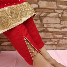 Very stylish pant's design by Kataria sisters