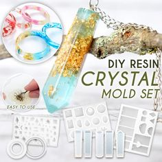 DIY resin crystal mold set ✨ 💐 - 🤩 The production of own accessories . - DIY resin crystal mold set ✨ 💐 – 🤩 The production of your own accessories depends entirel - Diy Resin Art, Diy Resin Crafts, Diy Crafts Hacks, Diy Home Crafts, Crafts To Do, Creative Crafts, Jewelry Crafts, Crafts For Kids, Paper Crafts