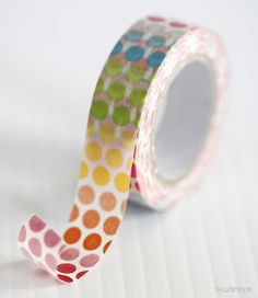 Colorful Rainbow Dots Washi Tape Pretty Tape by PrettyTape on Etsy, $2.50