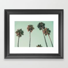 https://society6.com/product/palm-trees-at-sunset273705_framed-print?curator=josemanuelerre  Choose from a variety of frame styles, colors and sizes to complement your favorite Society6 gallery, or fine art print - made ready to hang. Fine-crafted from solid woods, premium shatterproof acrylic protects the face of the art print, while an acid free dust cover on the back provides a custom finish. All framed art prints include wall hanging hardware.