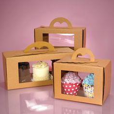 ------------------10---------------- Window Pastry Carry Boxes- the 10.75X4.5 can hold 10 cupcakes at $0.09 per