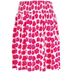 Cat's Printed Skirt ($180) ❤ liked on Polyvore