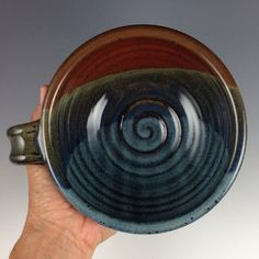 Soup Bowls Set of 2 Bowls with Handle Handmade by nealpottery