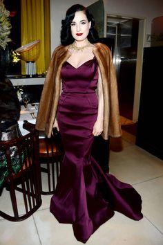 Dita Von Teese LOVE the dress
