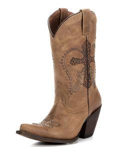 American Rebel Boot Company Women's Joni Boot - America Tan