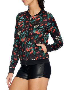 Wild Cherry GF Bomber - LIMITED (AU $100AUD / US $70USD) by Black Milk Clothing