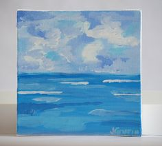 Abstract beach painting by Jessica Griffin.