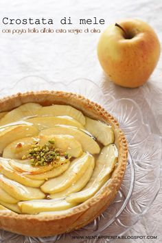 Crostata di #mele con pasta frolla all'olio extra vergine di oliva #apple #appletart