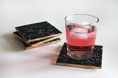 Starstruck with these DIY constellation coasters.