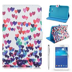 Samsung Tab 3 Lite 7.0 Case, Gift-Hero(TM) PU Leather Flip Protective Case Cover with Stand for Samsung Galaxy Tab 3 Lite 7.0 SM-T110 / SM-T111 7.0 Inch Tablet (Colorful Heart) Gift-Hero http://www.amazon.com/dp/B01837KIDK/ref=cm_sw_r_pi_dp_VD5xwb0SWC0H3