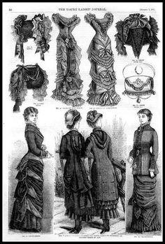 1881 Vintage Fashion Plates - Ladies Home Journal No.4