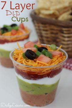 7 Layer Dip Cups. A