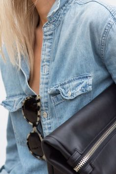 chambray and tortoise