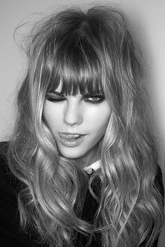 Yes the #fringe / #bangs are back http://www.fashionising.com/trends/b--fringe-bangs-5456.html And can they look much hotter than when styled with bed hair and smokey eyes?