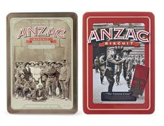 COLLECTOR ALERT: Unibic limited edition ANZAC biscuit tin 500G. The tin on the left, 'The Ancient Tombs of Giza' is available only from ALDI's. This is endorsed by the RSL and a percentage of the sales proceeds will be donated to the RSL and ALDI will also donate an extra $20,000 to the RSL. On sale April 12th, 2014 while stock lasts.