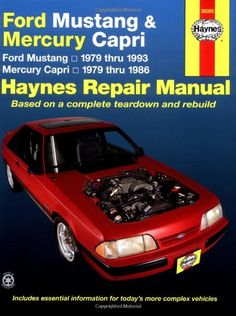 Ford Mustang / Mercury Capri '79'93 (Haynes Repair Manuals) - http://musclecarheaven.net/?product=ford-mustang-mercury-capri-7993-haynes-repair-manuals