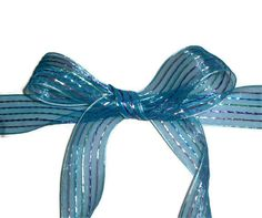 Blue with Strips Ribbon 15 X 10 yards by ThisandThatCrafter, $4.75