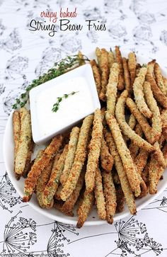 Crispy Baked String Bean Fries by CinnamonKitchn