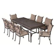 Tango Cast Aluminium Rectangular Table - 210x100cm