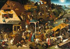 Pieter Bruegel (1525-1569) - Proverbes flamands