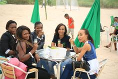 Congo republic girls.At the beach