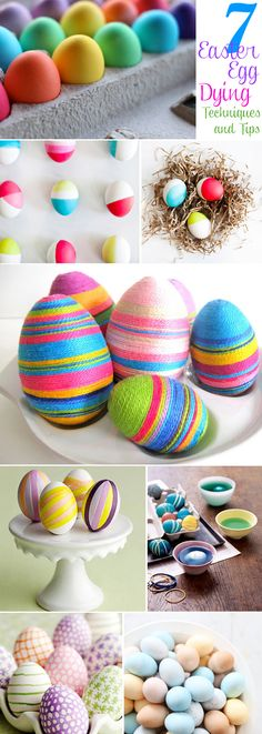 7 Easter Egg Dying Tips http://blog.thecelebrationshoppe.com/2013/03/07/7-easter-egg-dying-techniques/