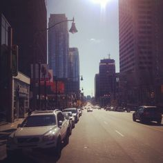 """View of Yonge x Eglinton ... One of the best areas of Toronto for dinning and party. Also known as """"Yonge and Elegible"""", a joke people made because of the large number of young professionals and singles living in the area."""