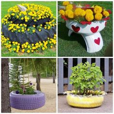 26 Ideal Delicious Garden Ideas Around The World Tire Garden, Garden Art, Garden Design, Garden Ideas, Painted Tires, Tire Planters, Tyres Recycle, Plantar, Succulents Garden