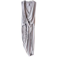 Doo.Ri Draped Grey Tank Dress ($323) ❤ liked on Polyvore featuring dresses, grey, vestidos, haljine, doo.ri, gray tank dress, grey tank top dress, rope dress and grey tank dress
