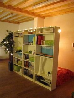 IKEA Hackers: Billy bookcases as room dividers