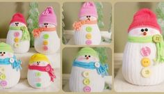 How To Make Adorable DIY Sock Snowmen