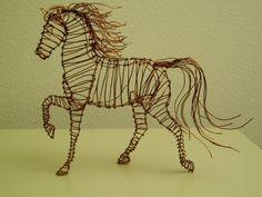 Copper wire Horse by Jaxnxay.deviantart.com on @deviantART