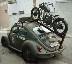 aweee... how cool is that? U.S army drives a German VW beetle?
