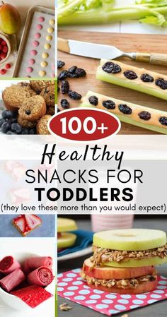 100+ Healthy Snacks for Toddlers (they love these more than you would expect) Healthy Toddler Snacks, Toddler Lunches, Healthy Meals For Kids, Healthy Snacks For Kids, Easy Snacks, Kids Meals, Baby Puree Recipes, Pureed Food Recipes, Baby Food Recipes
