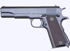 John Browning's M1911 .45 ACP, an almost perfect piece of engineering.