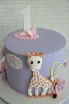Giraffe, pretty kid's cake