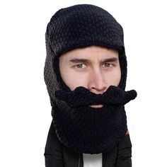 1516f40ce68 Beard Hat Beanie - Original Knit Beard Balaclava Toque Beard Head Knitted  Beard