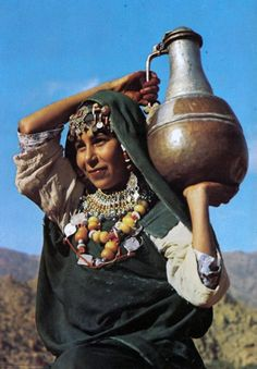 """Africa   """"Girl from Tafraout"""".  Tiznit Province. Morocco.    Scanned postcard; publisher Difikot.  No. 280"""